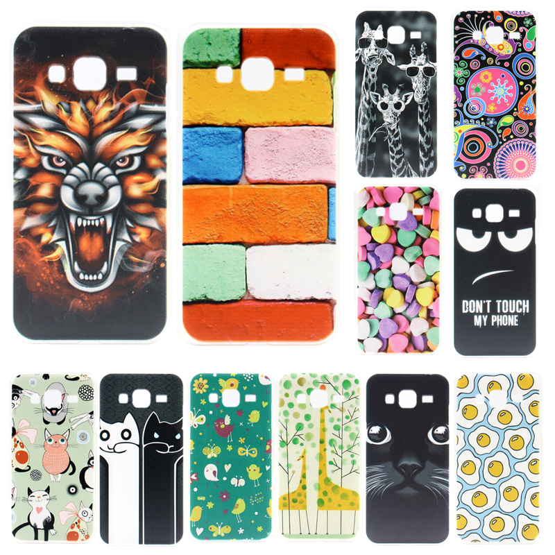 Fashion Cover For Samsung Galaxy J3 2016 J320 J320F J320H Case Coloured Painting Plastic Back Cover Cases For Samsung J3 Fundas
