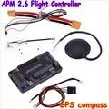 Mega ArduPilot APM2.6 Controlador De Vôo Board Bússola Externa Com Ublox NEO-6M GPS RC Airplane Parte Wholeslae