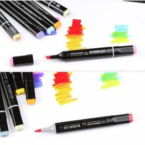 Image 4 - Finecolour EF102 מברשת אמנות סמני קנס מברשת טיפ 480 צבעים מקצועי מנגה פרמייר פעמיים הסתיימו סמני עבור ציור
