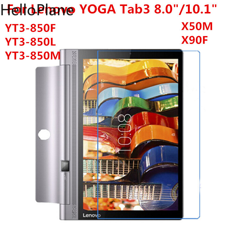 Tempered Glass For Lenovo YOGA Tab 3 8.0 10 10.1 X50F X50M Plus Pro X90F YT3 850F YT3-850F X703F Tablet Screen Protector Film