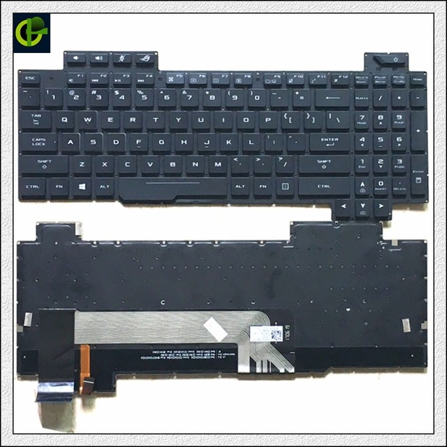 1 Originele Engels Verlicht Toetsenbord Voor Asus Rog Strix GL503 GL703 GL503V GL503VD GL503VD DB71 GL503VD DB74 GL503VM GL503VS Ons