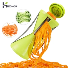 KONCO Vegetable Spiralizer Bundle, Fruit Slicer Julienne Peeler, Stainless Steel Vegetable Spiral Slicer Julienne Cutter