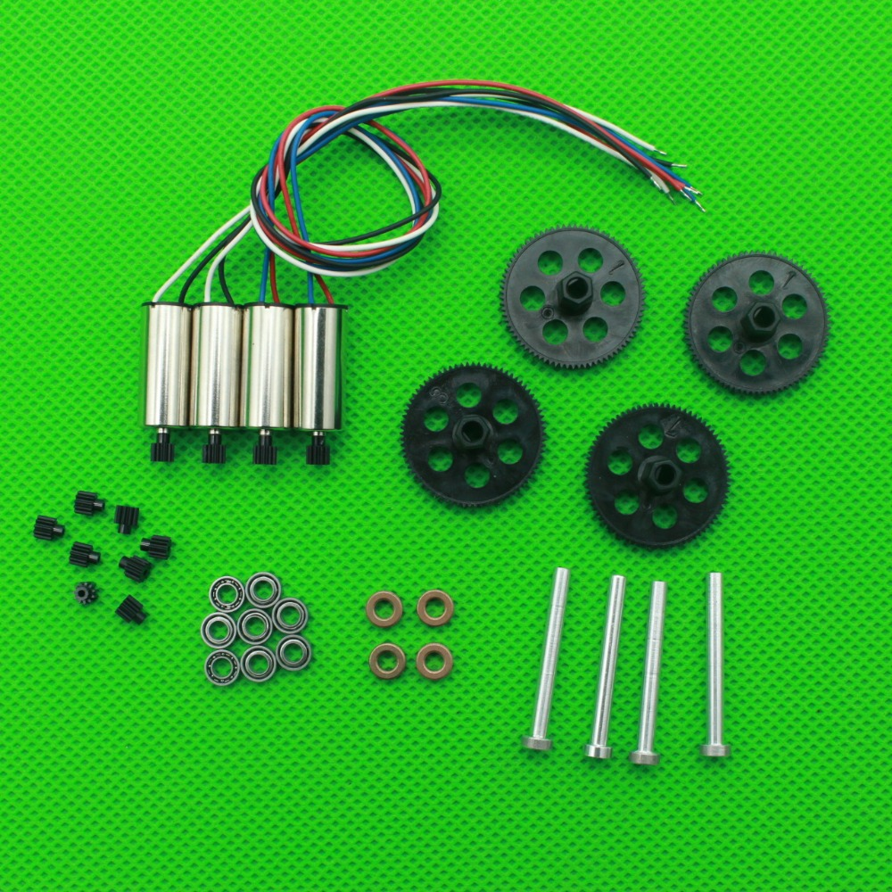 Upgrade Bearing engines motor Aluminum Shaft gear blade for Visuo XS809 XS809HW