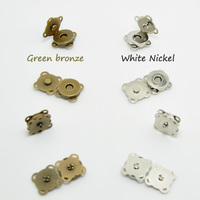 20 sets per pack. Bags magnetic clasp. Metal snap. Seam magnetic buttons. 18 mm thickening magnetic buckle