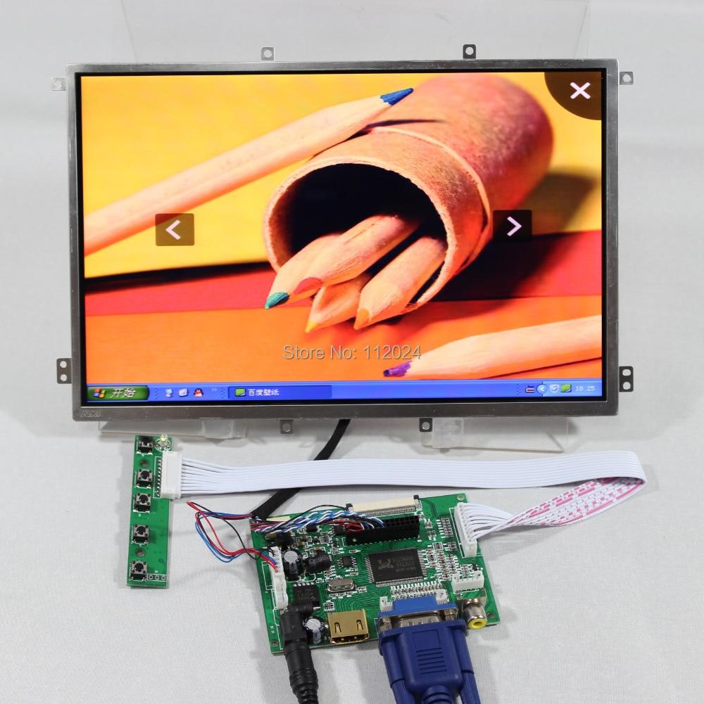 HDMI VGA 2AV LCD driver board 10 1inch HSD101PWW1 A 1280x800 lcd panel