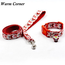 Warm Corner 1PC   The New Christmas Bells  Pet Supplies Puppy Pet Dog Traction Rope Collar Suit Traction Free Shipping Oct 14