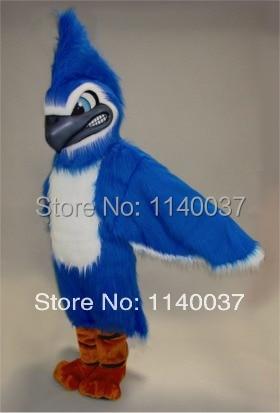 mascota lungă Păr Plush Material Fierasta Albastru Jay Mascot - Costume carnaval - Fotografie 1
