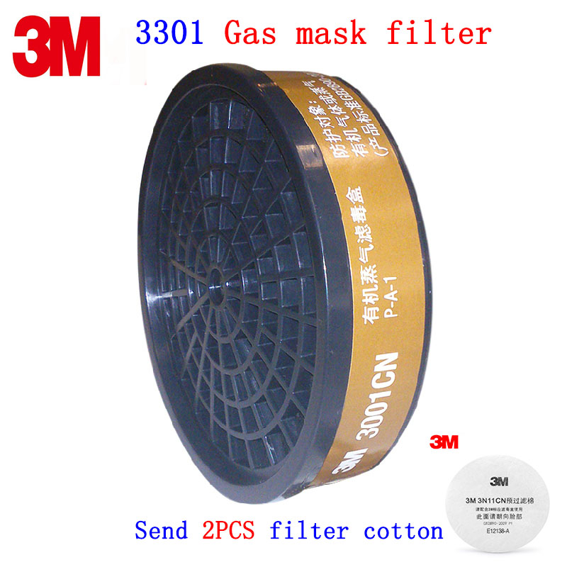 3M 3001 gas mask filter Genuine security 3M replace Activated carbon filter 3000 Series mask Special filter эпилятор depilador hs 3001 hs 3001