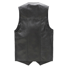Luxury Vest Mens Genuine Leather Sleeveless Jacket Sheepskin Wasitcoat Spring Autumn Slim Black Gielt Plus Size Colete Clothing