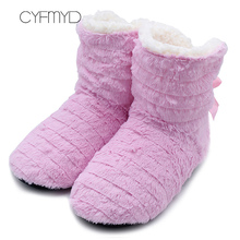 лучшая цена Pink Fur Slippers Women Winter Fashionable Butterfly Knot Indoor Slippers For Girl Slip On Plush Flock Warm Flat Shoes Casual