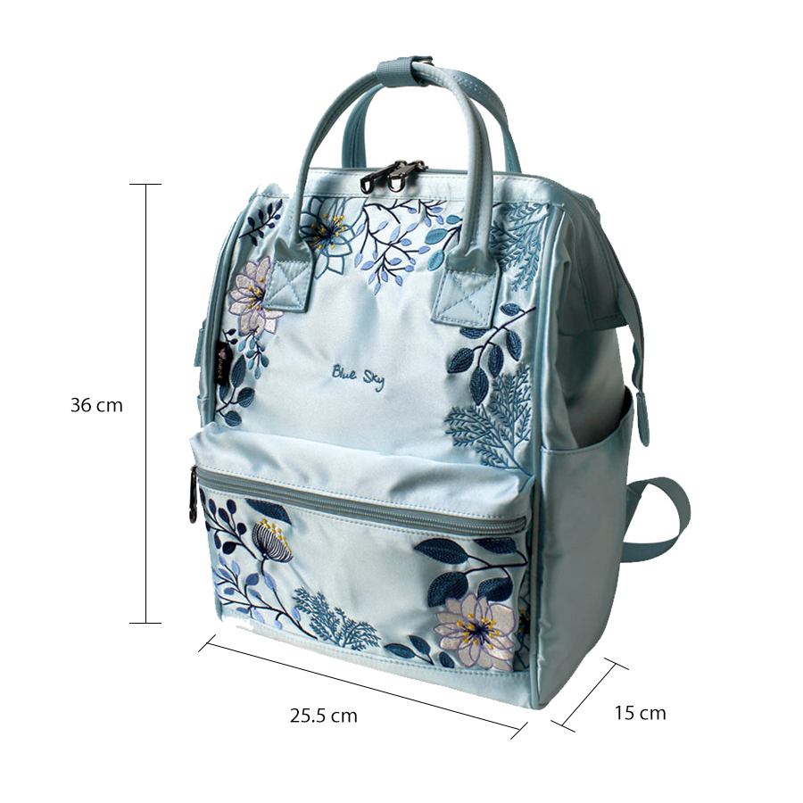 Flower Princess Women Backpack School Bags for Teenage Girls Embroidery Nylon Backpack Female Skybags Bagpack for Women 2019