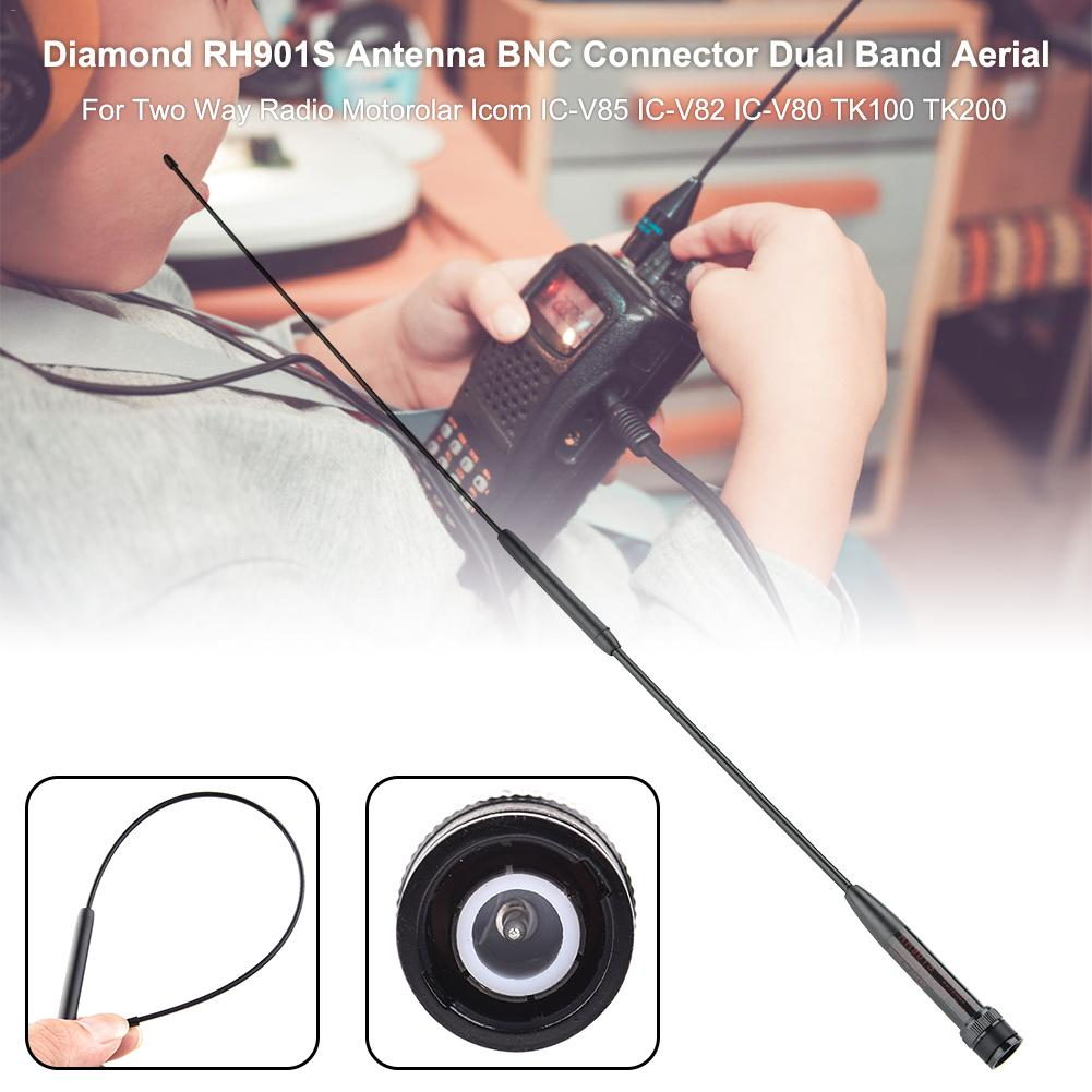 Hand Dual Band Aerial Antenna Diamond RH-901S BNC Connector For Two Way Radio Motorolar Icom IC-V85 IC-V82 IC-V80 TK100 TK200