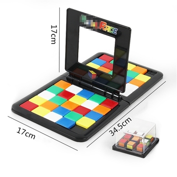Cube Jigsaw 3D Puzzle Race Cube Board Game Kids Adults Educational Toy Parent-Child Double Speed Game Magic Cubes Game for Kids