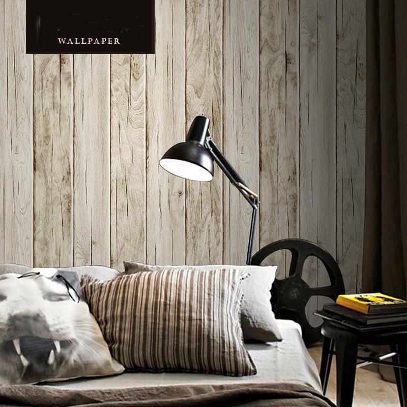 Papier peint 3d Papel de Parede Style Vintage à rayures papier peint en bois lavable en vinyle rouleaux pour salon revêtements muraux 3D 3 couleurs