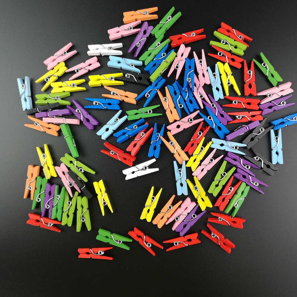 50 ピース 45 × 7 ミリメートルミニナチュラル木製クリップ写真クリップ洗濯ばさみクラフト装飾クリップペグクラフト装飾クリップペグ