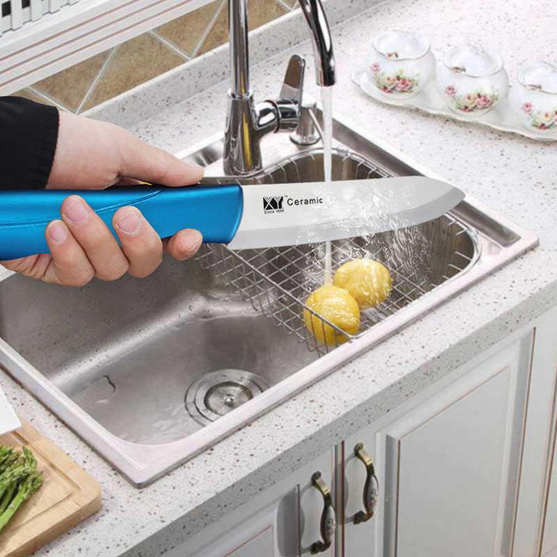 """Juego de cuchillos de cerámica XYj 6 """"5"""" 4 """"3"""" Zirconia juego de cuchillos de cocina de cerámica cuchillo de Chef de pastel de queso de pescado de Sushi"""
