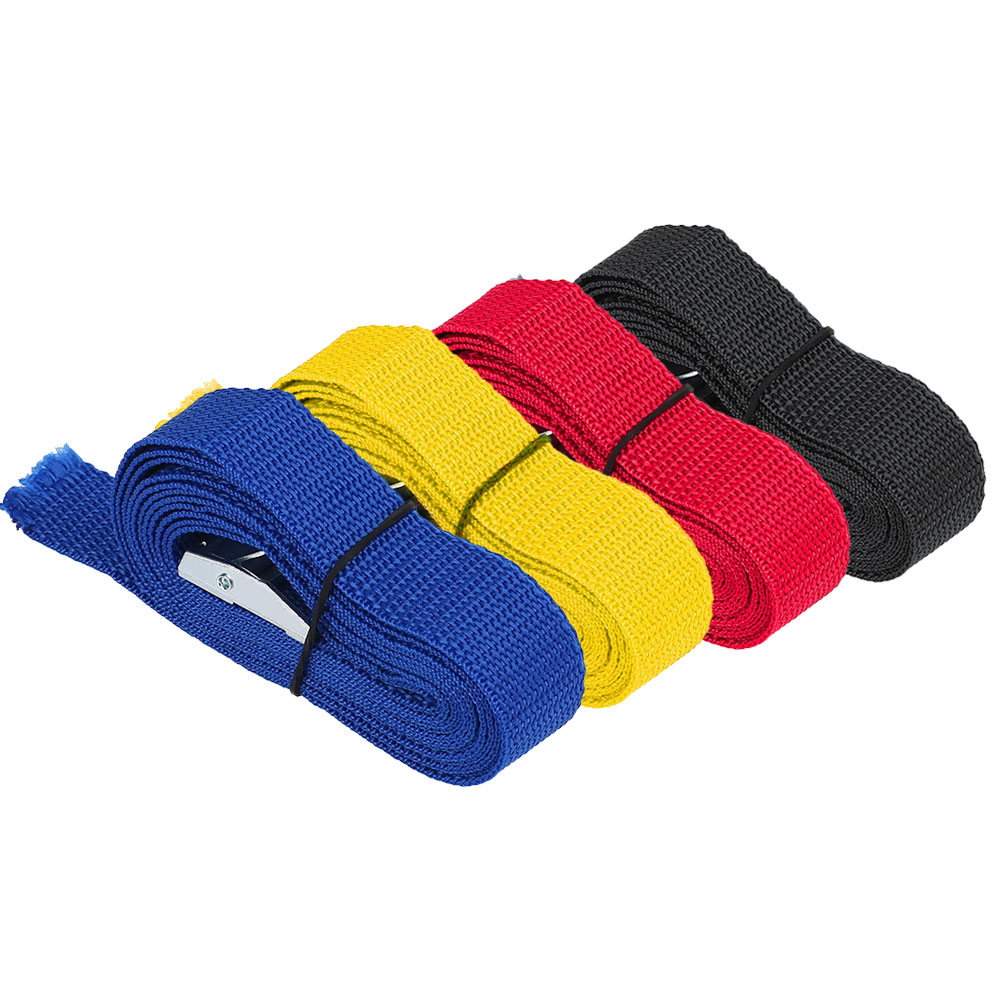 Vehemo 2.5M Car Fixed Strap Tie Luggage Belt Tension Rope Retractor With Buckle 4 Color