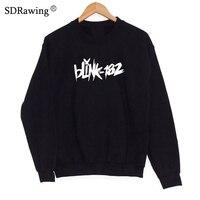 Hot Sale Women Sweatshirts Blink 182 Printed Costume Sweatshirts Summer women O Neck Short Sleeve New Tops Sweatshirts Music Ban