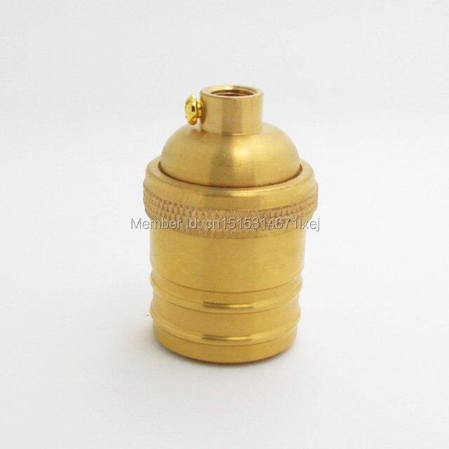 Free Shipping Keyless Brass Screw Bulb Socket Vintage Copper Lamp Holder  E26 E27 Light Bulbs Base