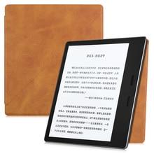 BOZHUORUI Caso Ultra sottile per Kindle Oasis (9th Gen, 2017 Release), magnetico Forte Adsorbimento Pieghevole In Piedi della copertura di Alta qualità