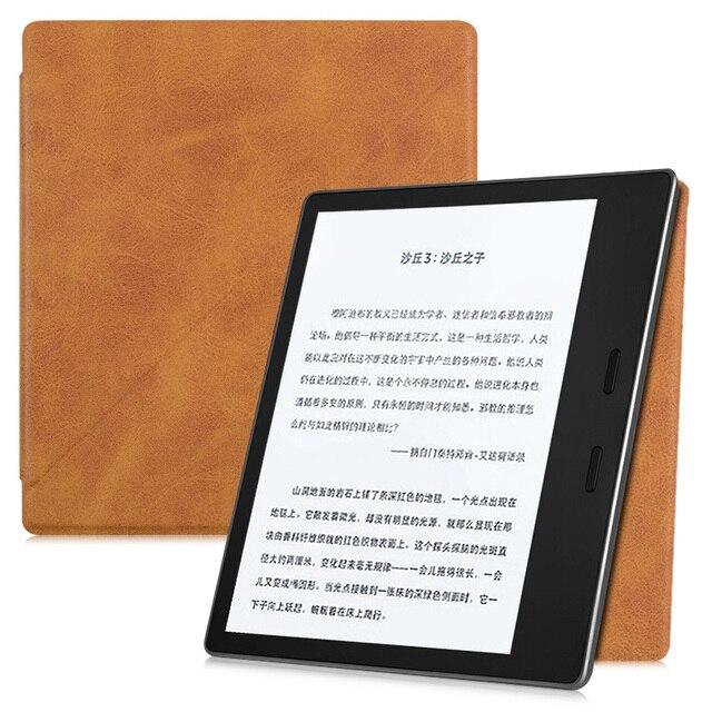 BOZHUORUI bardzo smukły futerał na Kindle Oasis (9th Gen, 2017 Release), magnetyczny silna adsorpcja stojąca składana wysokiej jakości etui