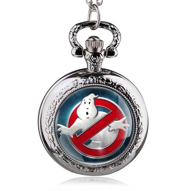 Vintage Ghostbusters No Smoking Quartz Pocket Watch Steampunk Pendant Men Women