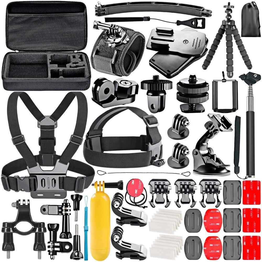 Nuevo GoPro Kit de accesorios para GoPro Hero4 PERÍODO DE SESIONES Hero1 2 3 3 + 4 SJ4000 5000, 6000 de 7000 para Sony DV deportes y más