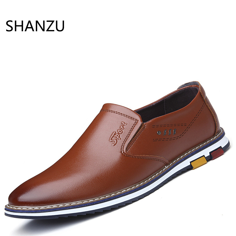 Mens Loafers Men Casual Leather Shoes Brand Designers Moccasins Men Shoes Spring And Autumn Slip On