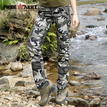 2017 Autumn Pattern Army Styles Women Pants Combat Cargo Pants Cotton Pocket Female Pants Women Winter Women Overall GK-9598