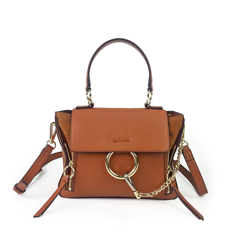 Star Favorite Fashion Famous Brand Design Luxury Handbag Women Genuine Leather Cloe Bag Real Cowskin Shoulder Bags with Ring
