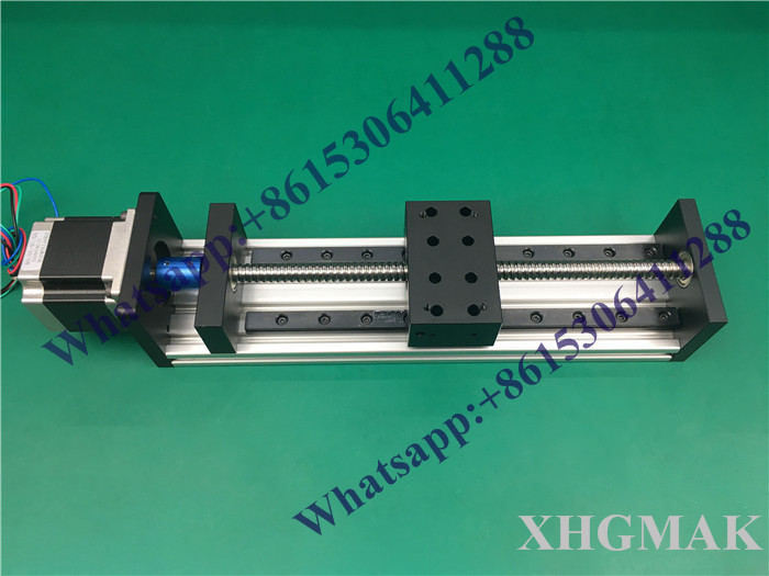 High Precision GX80*50mm Ballscrew linear 1610 1000mm Effective Travel+Nema 23 Stepper Motor Stage Linear Motion single block motorized stepper motor precision linear rail application for labs