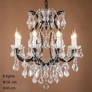Image 4 - Loft Retro Vintage Big Crystal Chandeliers Lustre Modern Hanging Lamp E14 LED 110V 220V Lighting For Kitchen Living Room Bedroom