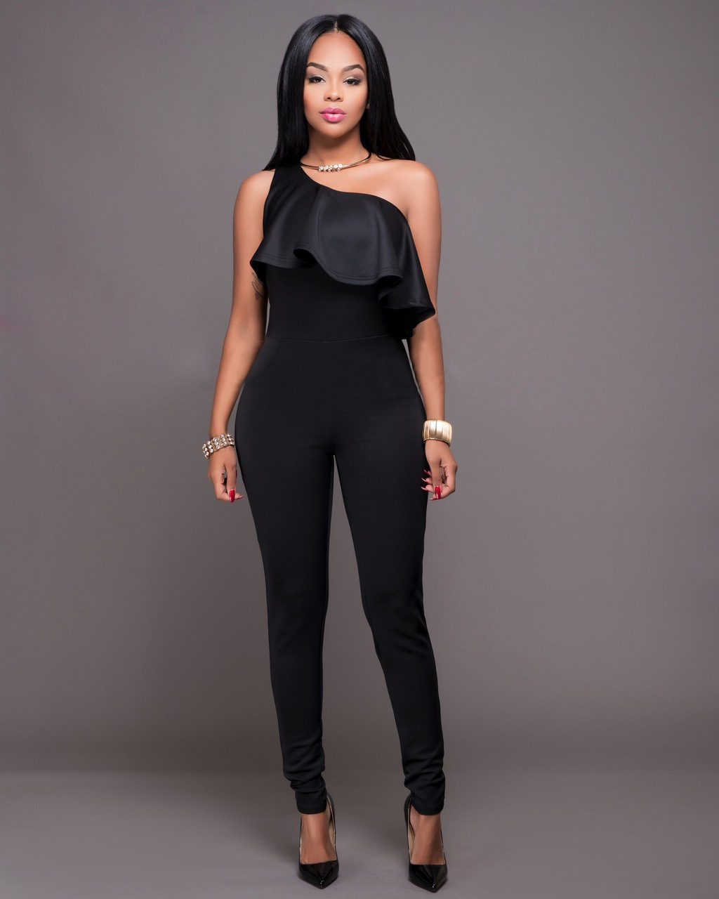 f343d5c1fbe9 Amazon Rompers Womens Jumpsuit Overalls Bodysuit model jumpsuit Long Pants  Bodycon Jumpsuits Women 2018 Bodys Para Mujeres Tuta