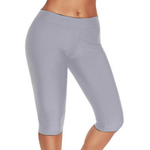 Womens Push Up Fitness Workout Crop 3/4 Length Leggings Cropped Summer Polyester High Quality Pants Plus Size Skinny Capris