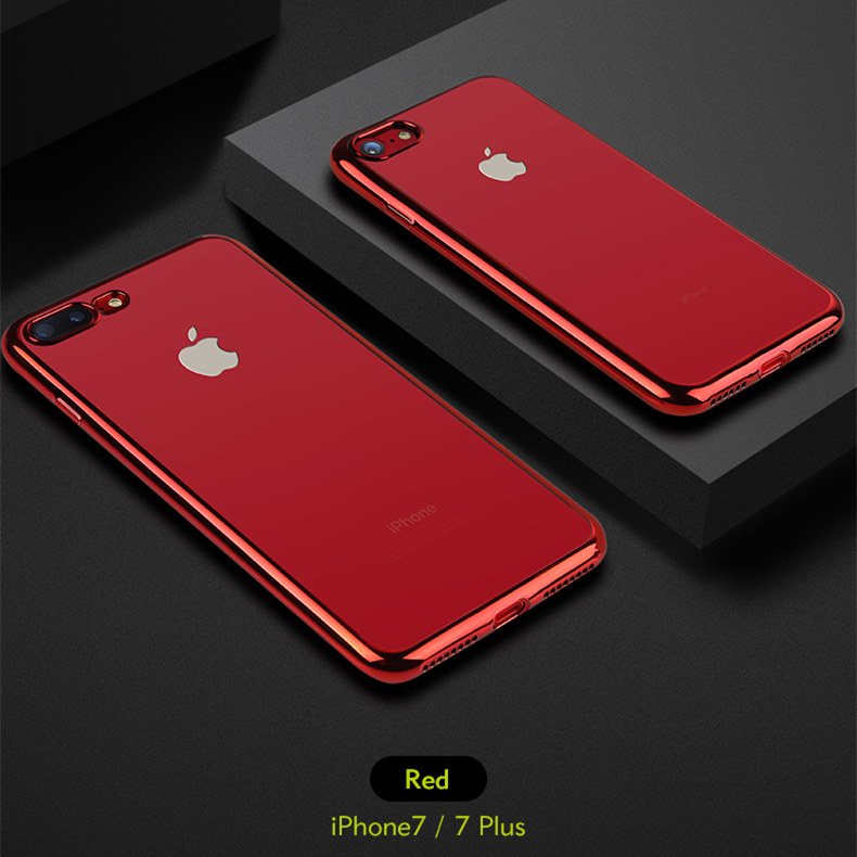 1344516750674 Aliexpress.com   Buy Benks for iPhone 7  7Plus Case Cover Electroplating  Edge Clear Transparent TPU Phone Cases for iPhone7 Plus Back Cover Lucky Red  from ...