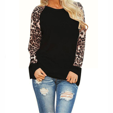 New Leopard Womens Tops And Blouses 2019 Long Sleeve Blouse Patchwork Shirt Tunic Tee Femme Blusas Mujer Plus Size S-5XL