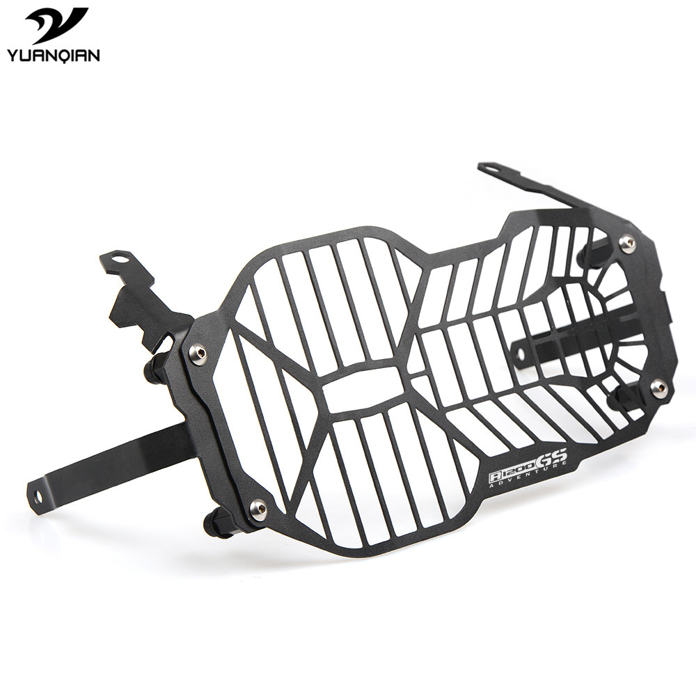 R1200GS Logo For BMW R 1200 GS R1200GS ADV Adventure 2013 2014 2015 2016 Motorcycle Moto Headlight Grill Guard Cover Protector high quality for bmw r1200gs 2013 2014 2015 motorcycle upper engine guard highway crash bar protector silver