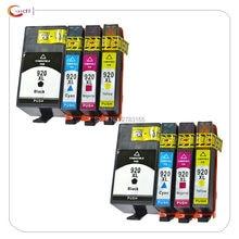 8 pacote compatível para hp 920 920xl para hp officejet 6000 6500 6500 6500a/7000/7500/7500a cartucho de tinta da impressora