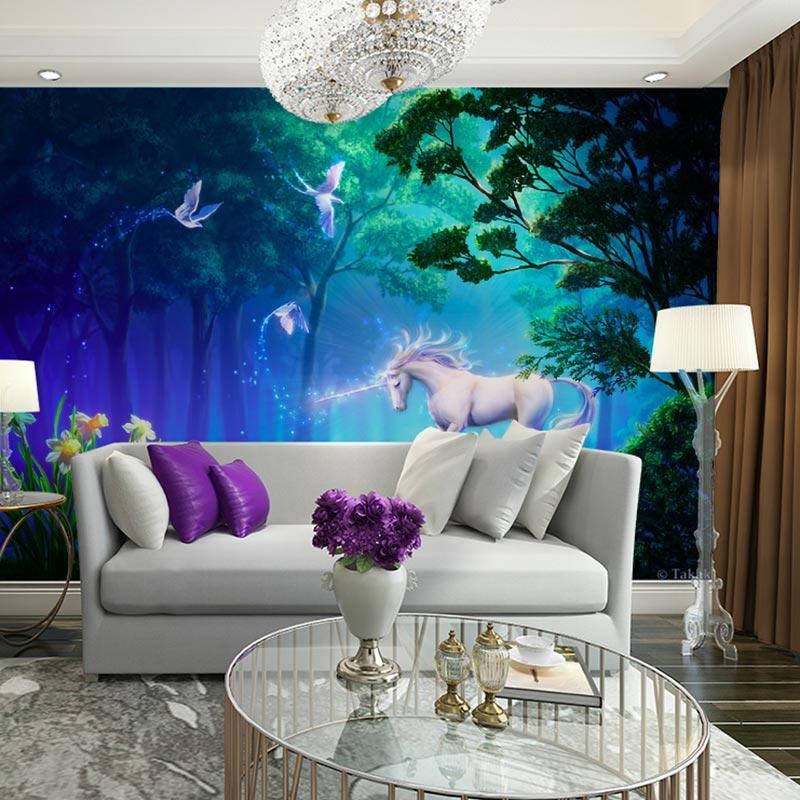 Kinder Schlafzimmer Tapeten 3D Kinderzimmer TV Wand Papier White ...