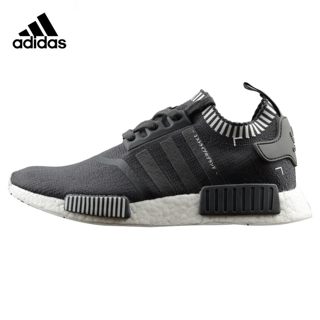 best service 6629b 32980 US $111.69 49% OFF|Adidas NMD R1 Primeknit Men's Running Shoes, Original  Sports Outdoor Sneakers Shoes,Black,Damping Anti skid Breathable S81849-in  ...
