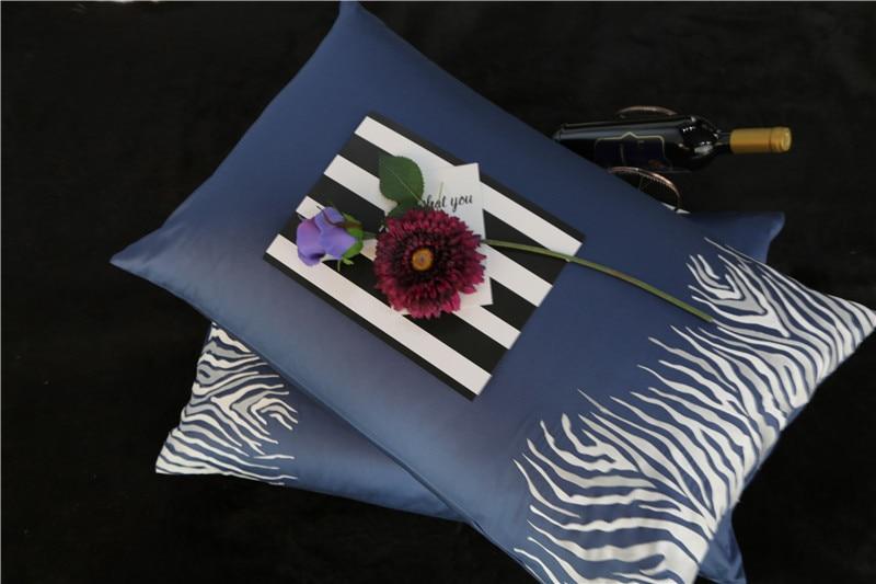 2017 Nuovo 100% Cotone Egiziano Ricamato Biancheria Da Letto zebra set 4 Pz queen king size lenzuolo set Pillow shams - 3