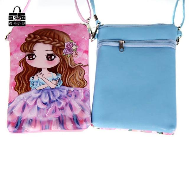 Rose Diary Cartoon PUleather double zipper Children Bags fashion handbags kids Messenger bag Shoulder Bag for kindergarten girl
