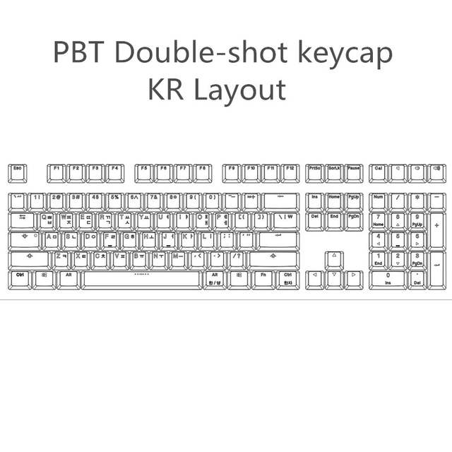 Cool Jazz Double-shot Black Thick PBT ANSI Korean layout 108 backlit  Keycaps OEM Profile Keycap For MX Mechanical Keyboard