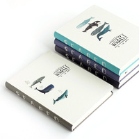Cute Whale Hardcover Diary Orginal Office Notebook Periodical Planner Sketchbook For Agenda Diary Notebooks Caderno Journal