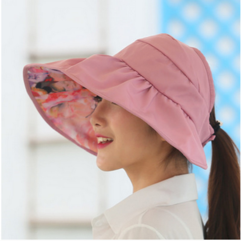 0526b37d401 Detail Feedback Questions about wide brim summer hats for women sun hat  panama reversible UV protection floral beach cap sombrero visor sunhat for  lady ...
