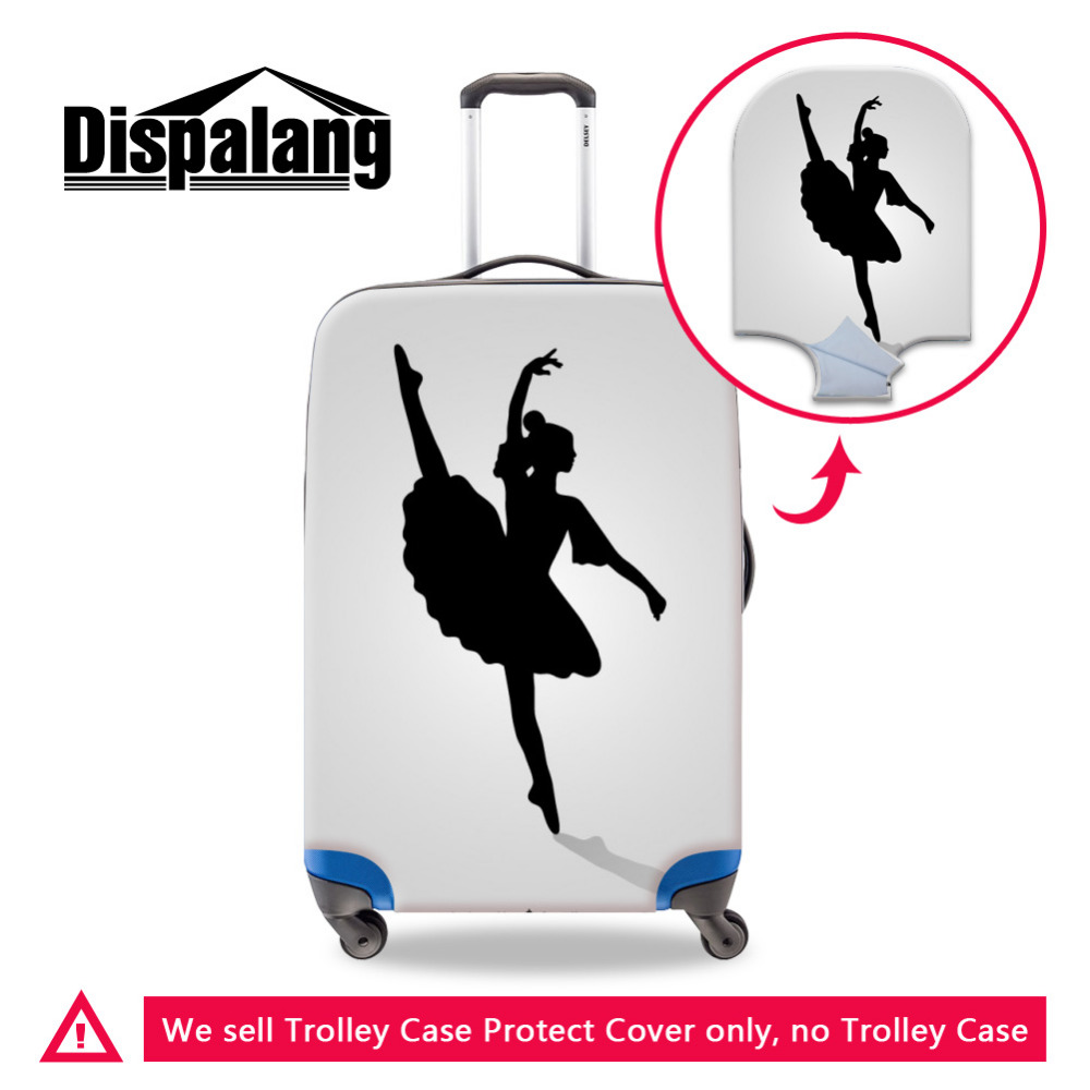 ballet girls luggage protective cvoer (3) 3D Flower Travel Luggage Protective Cover for 18-30 inch Trolley Suitcase Strech Elastic Trunk Case Dust Covers with Zipper