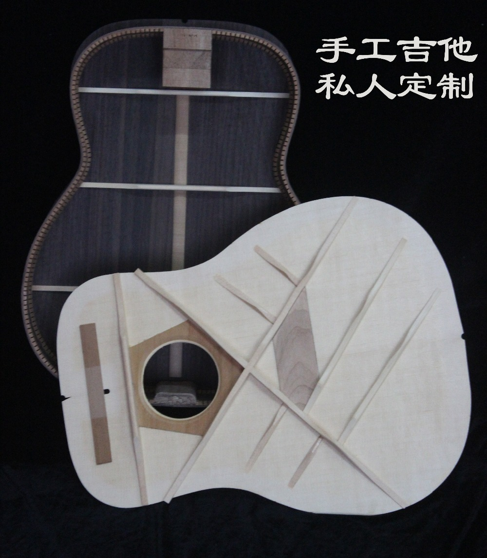 customized 41 Inch full solid wood acoustic guitars, Guitarra acustica,full solid wood, ebony fingerboard(China)