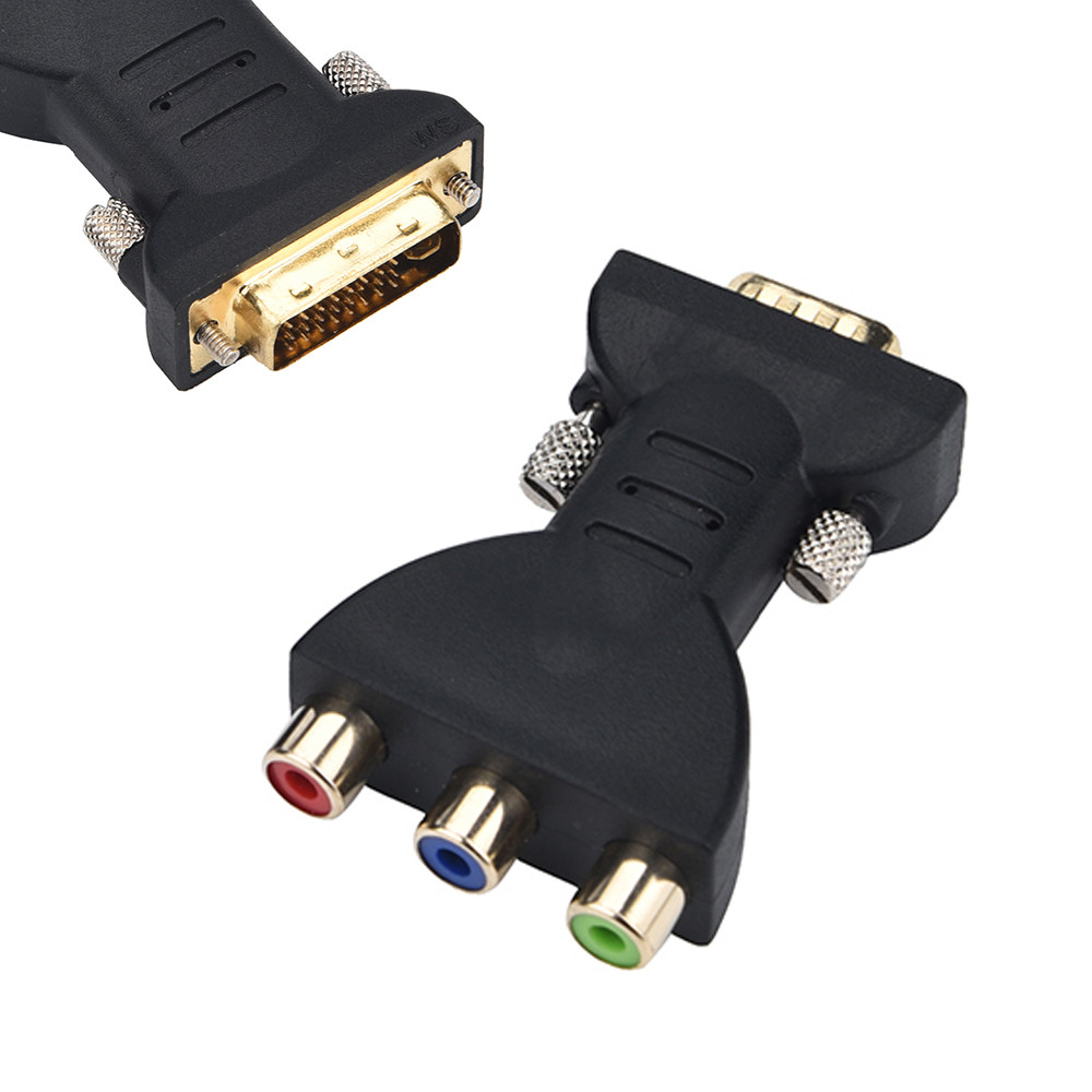Standard DVI-I 24+5 Male To Black 3 RCA Female Connector Converter Adapter Adapter For Huawei P9 Factory Price Dropshipping