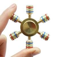 Hexagonal Hand Spinner 100 Brass Fidget Toy 2017 New Metal Fidget Spinner Edc Finger Spinner Hand