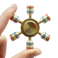 Hexagonal Hand Spinner 100 Brass Fidget Toy 2017 New Metal Fidget Spinner Edc Finger Spinner Hand